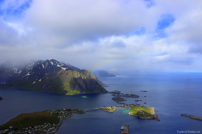 A bird's eye view of Reine village, but that's a post for another day :)